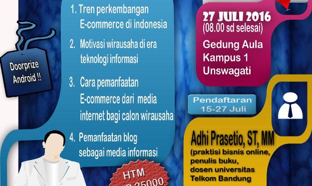 Pembicara Seminar E-Commerce di UNSWAGATI Cirebon